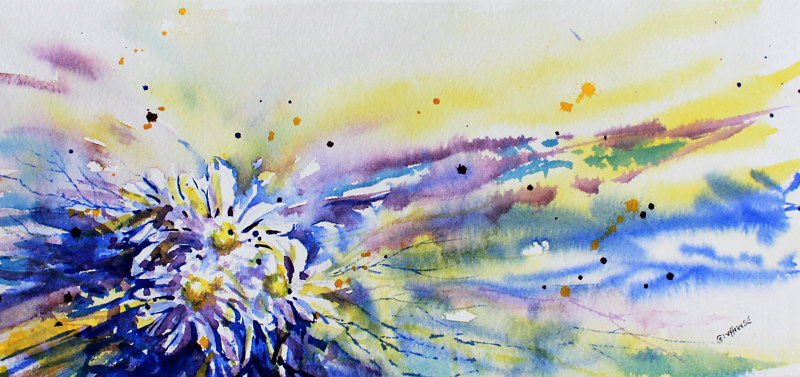 Watercolor Abstract by Wanda Hawse
