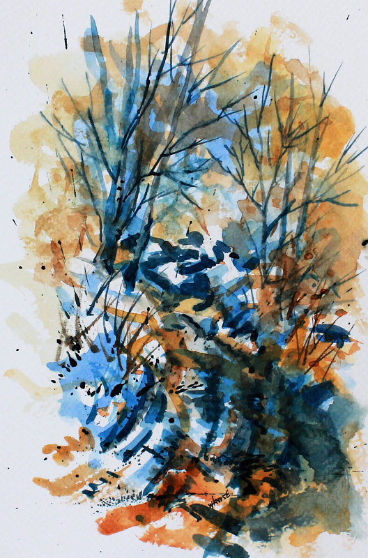 Watercolor Winter Impression #1 by Wanda Hawse