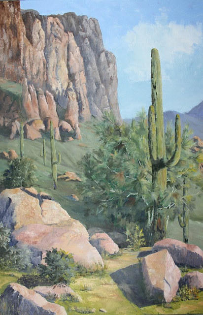 Oil painting View From Dutchman    by Bob Spille