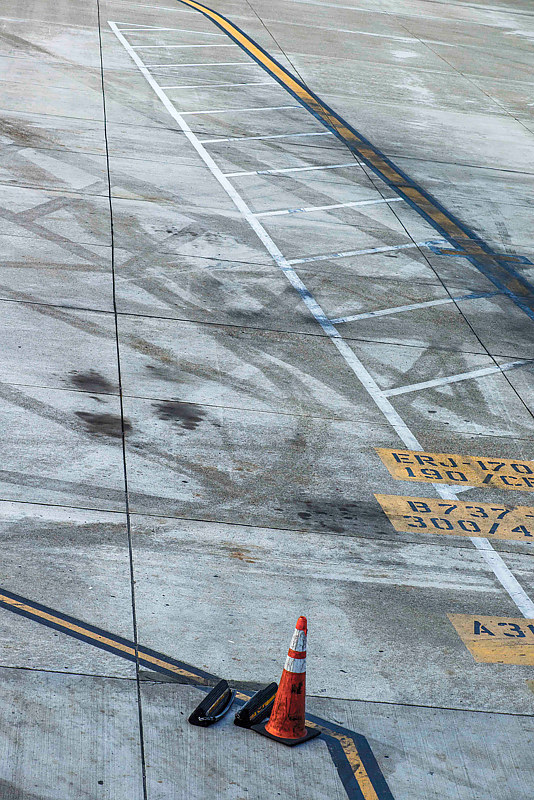 "Painting ""Airport Runway, Collapsed to Two Dimensions"" by Hunter Madsen"