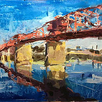 Oil painting Broadway Bridge SOLD by William Sharp