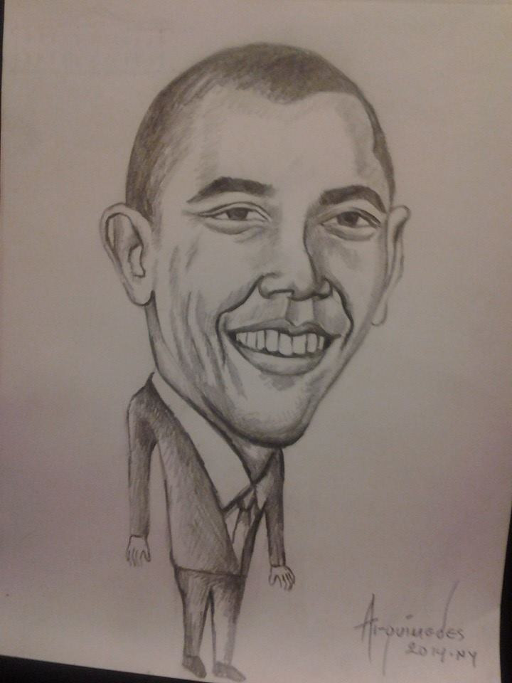 president Obama by Arquimedes Mejia