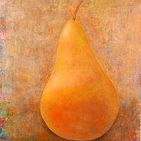 Painting Amy Kaufman, Golden Pear by Amy Kaufman