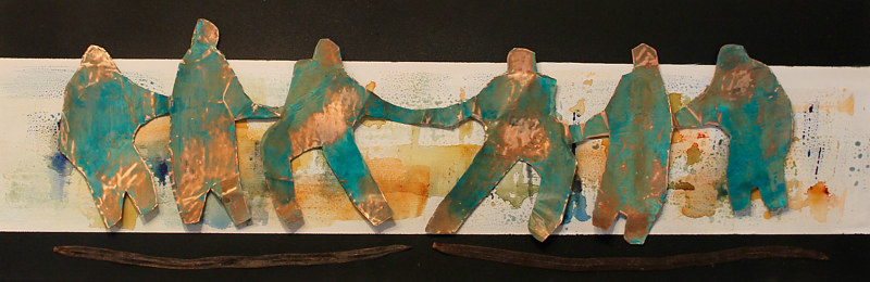 Mixed-media artwork Strength by Steve Latimer