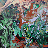 Acrylic painting Creation Myth by David Yawman