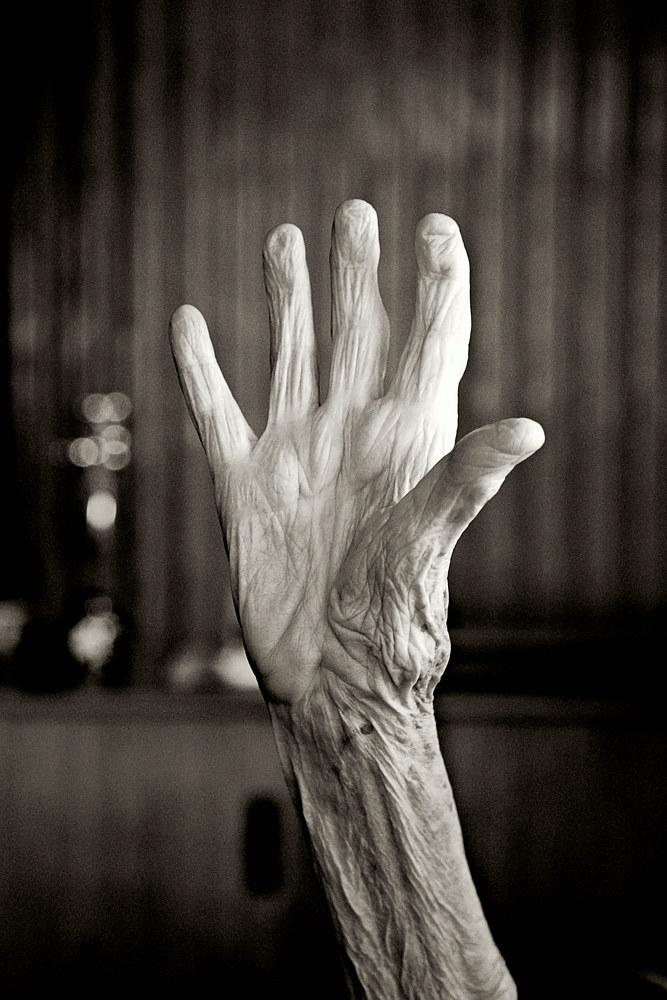94 yr old hand by Marc Brisson