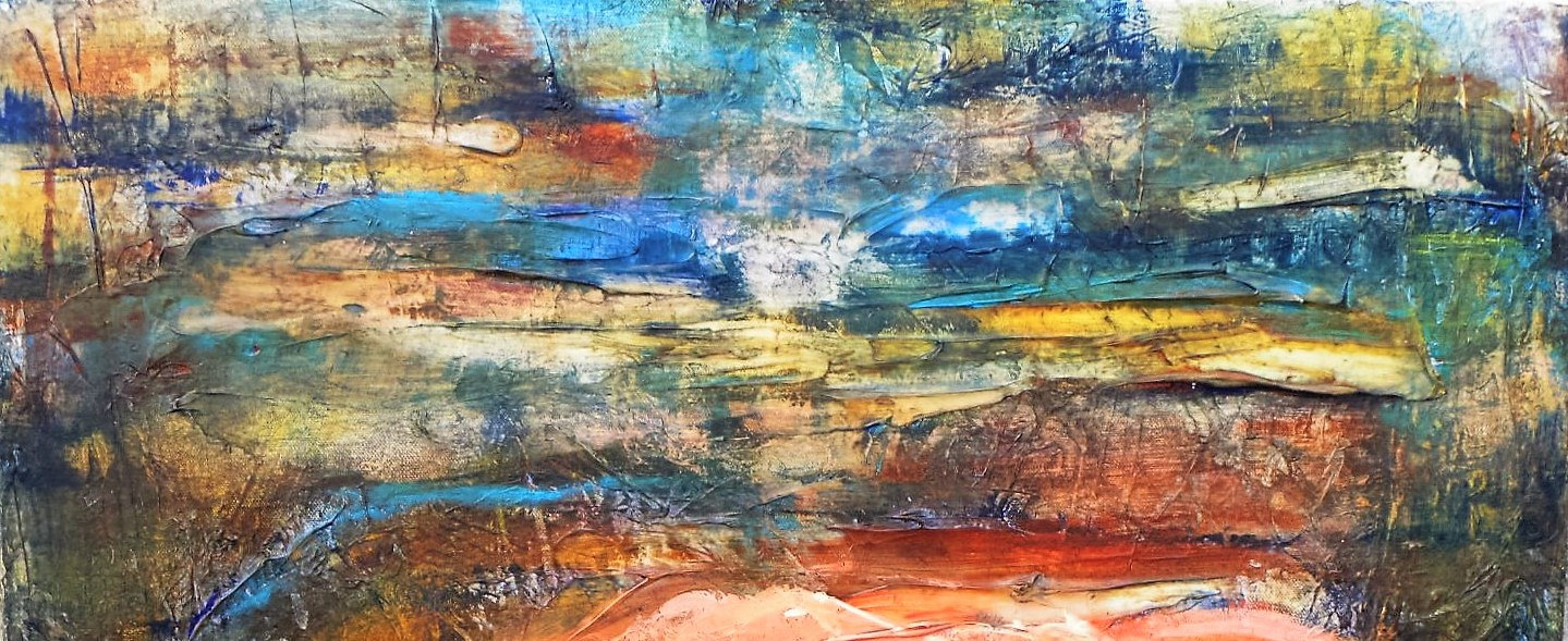 Mixed-media artwork Mother Earth by Dianne  Cuzner