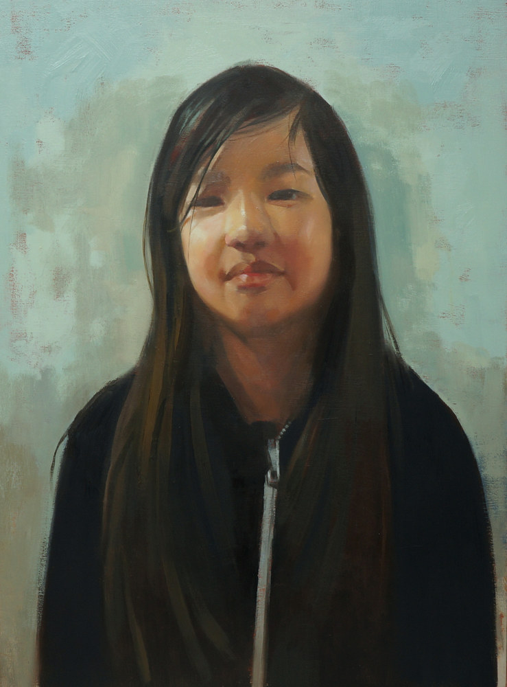 Oil painting Young by Eunice Sim