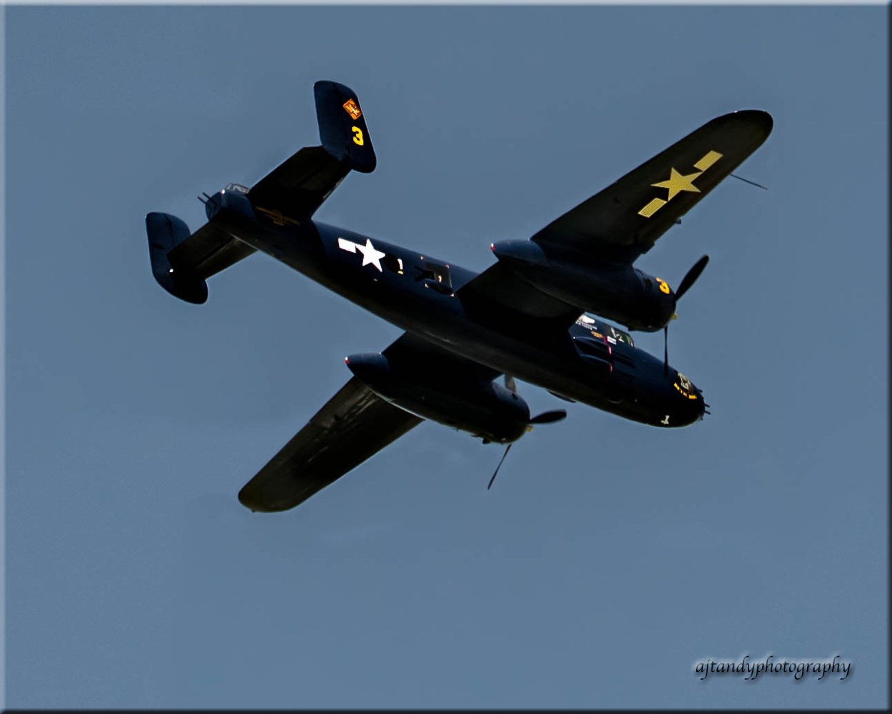 WWII Martin B- 25 bombers lands in Dayton. by Andy Humphrey