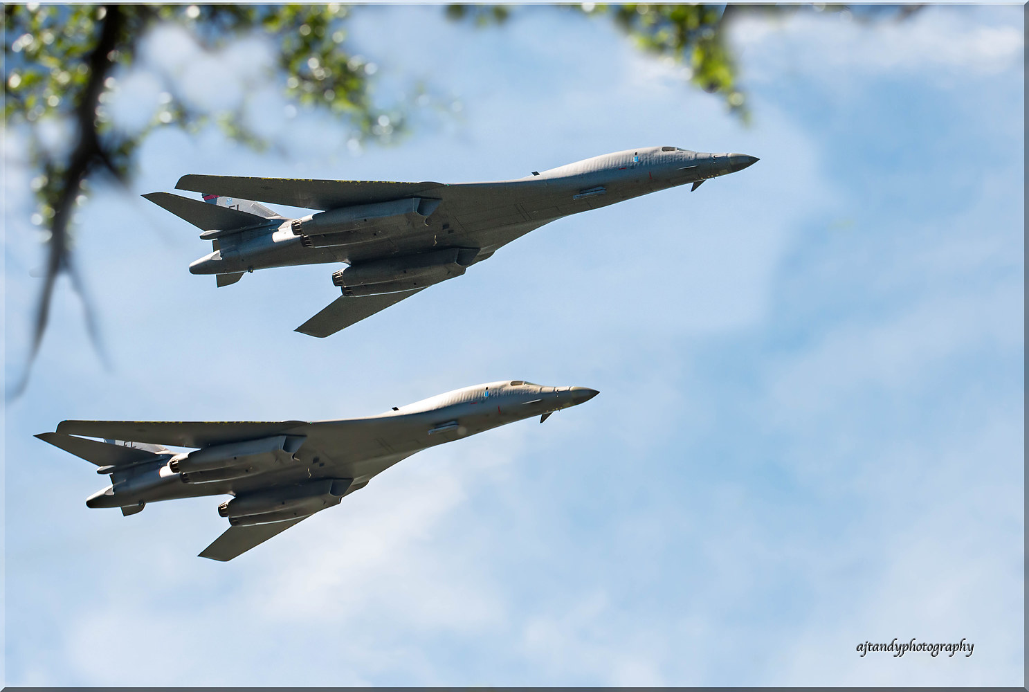 ...and the B- 1 bombers screamed overhead to salute the Raiders one last time. by Andy Humphrey