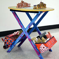 Mobile Play Table - Participatory Sculpture, Mixed Media, 2017 by Sara Kaltwasser