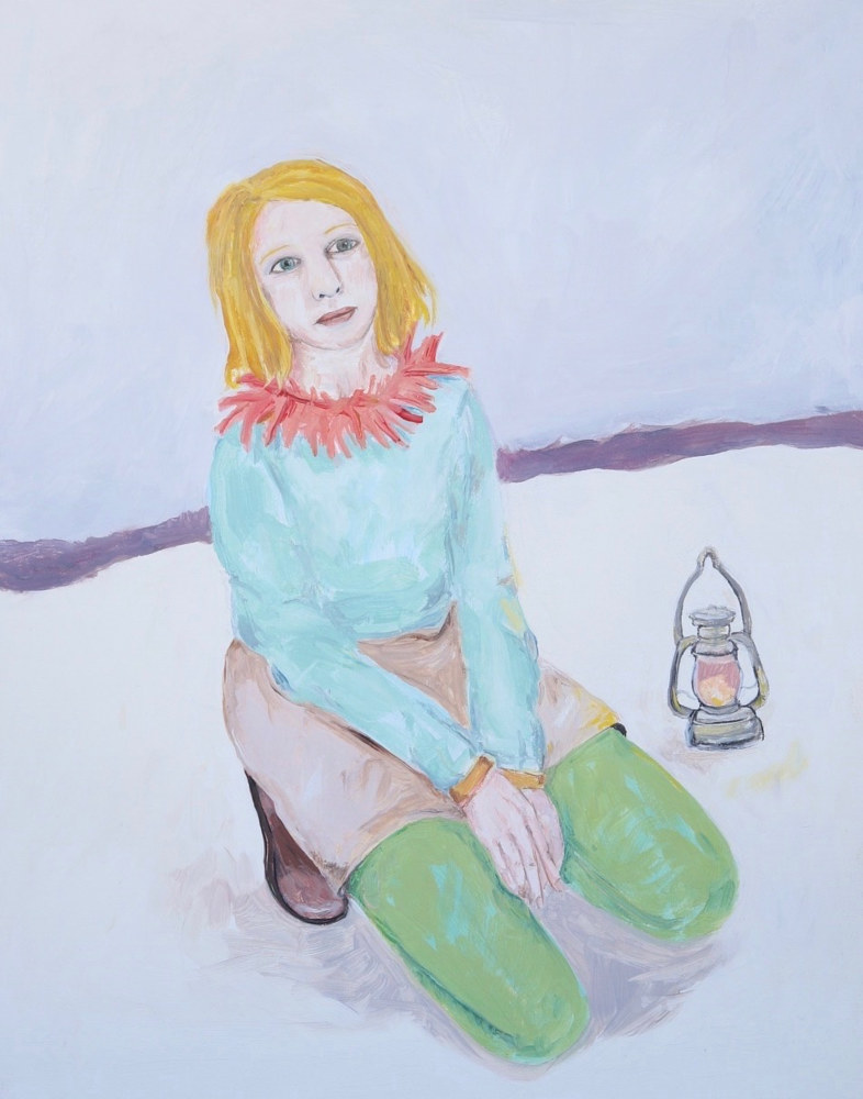 a girl waiting by Katherine Bennett