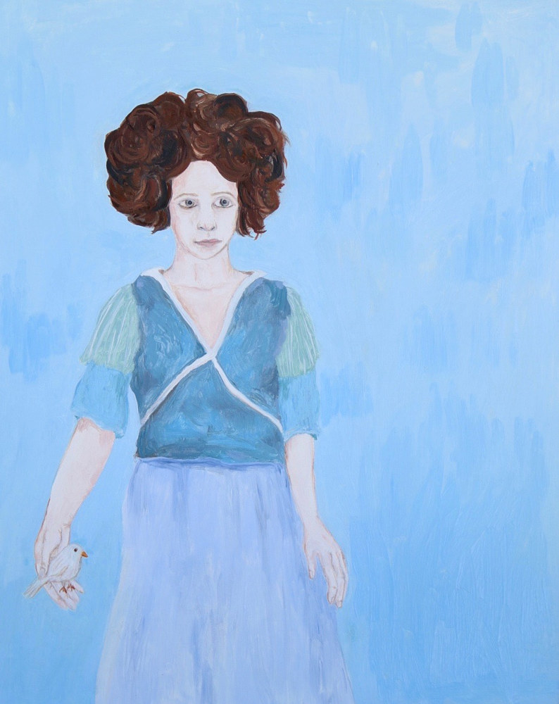 a girl in blue by Katherine Bennett