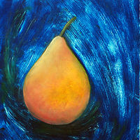 Painting Amy Kaufman, Ocean Pear by Amy Kaufman