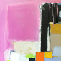 Acrylic painting Moving on Up (with Pink) by Sarah Trundle
