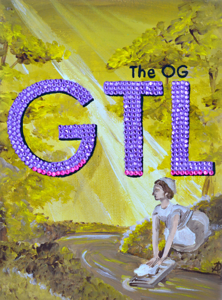 Acrylic painting The OG GTL by Amber N Petersen