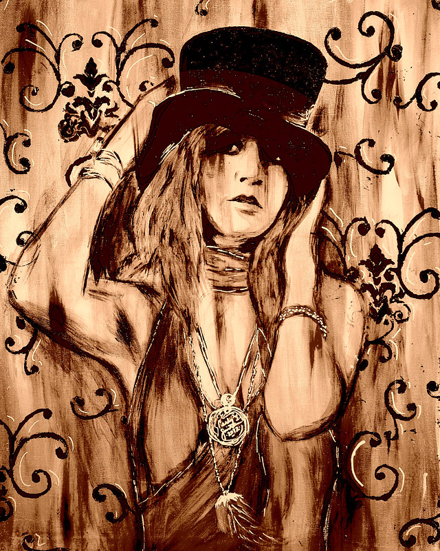 Acrylic painting Stevie Nicks by Carly Jaye Smith
