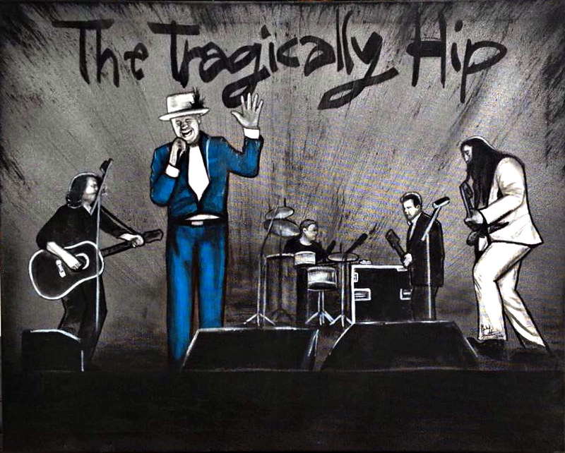 Acrylic painting The Hip by Carly Jaye Smith