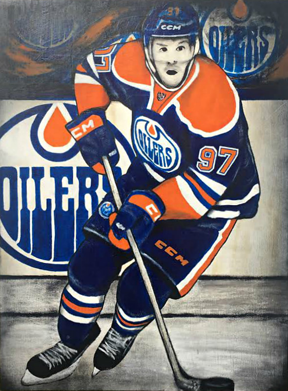 Mixed-media artwork CONNOR MCDAVID by Carly Jaye Smith