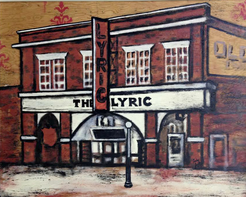 Acrylic painting The Lyric by Carly Jaye Smith