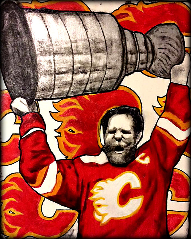 Acrylic painting LANNY MCDONALD by Carly Jaye Smith