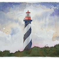 Painting St. Augustine Light Station by Gary Huff