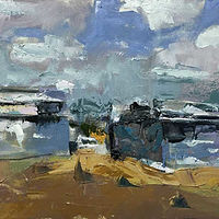 Oil painting Ruins 1 by William Sharp