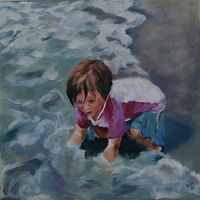 Oil painting Awesome by Barbara Naeser