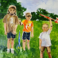 Oil painting The Rocket Park by Barbara Naeser