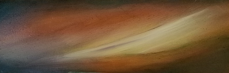Oil painting Land and sky #4 by Lisa Tomczeszyn