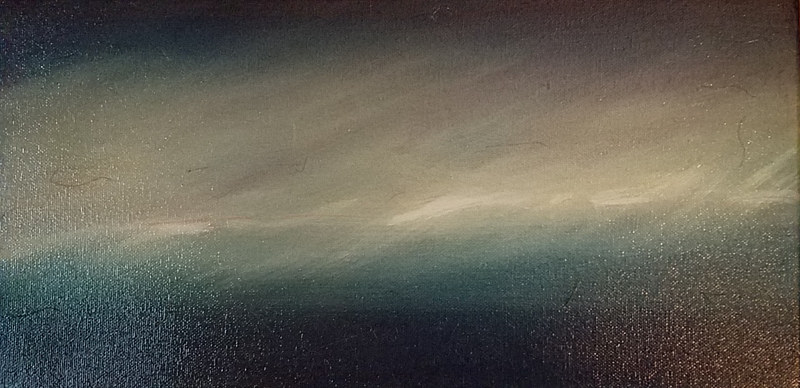 Oil painting Cirrus by Lisa Tomczeszyn