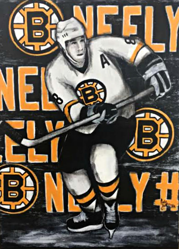 Acrylic painting CAM NEELY by Carly Jaye Smith