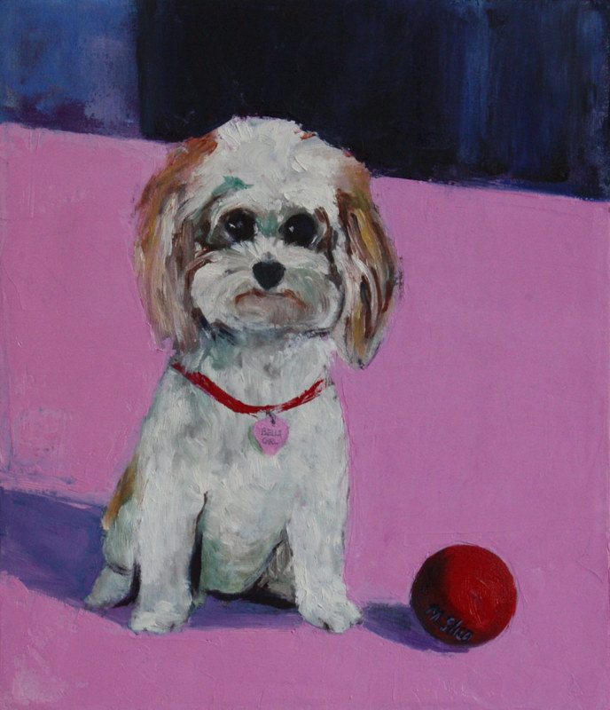 Oil painting bella girl by Madeline Shea