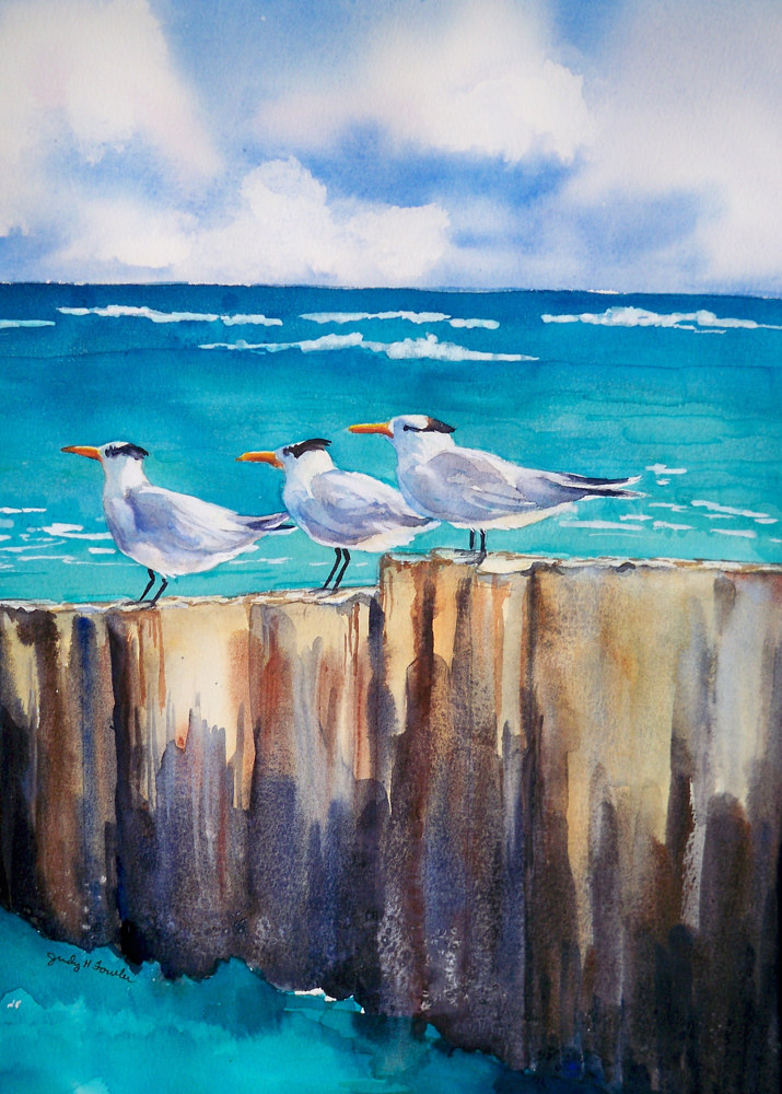 Painting St Croix Memories by Judy Fowler