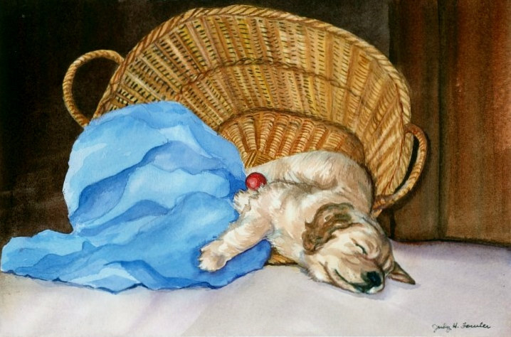 Watercolor Storing up energy by Judy Fowler