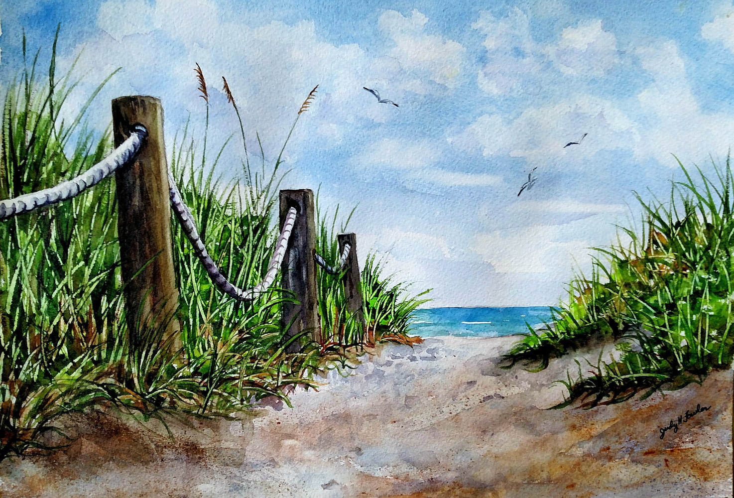 Print Path to the Sea by Judy Fowler