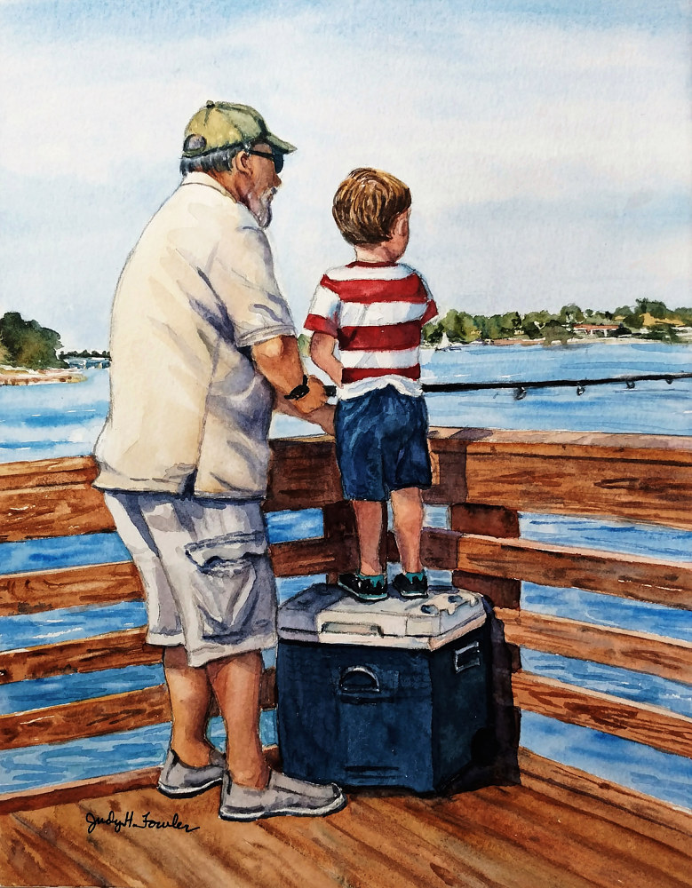 Fishing with Grandpa by Judy Fowler
