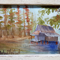 mini Bayou with Cabin by Barbara Haviland