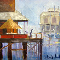 Painting Fishermans Wharf by Barbara Haviland