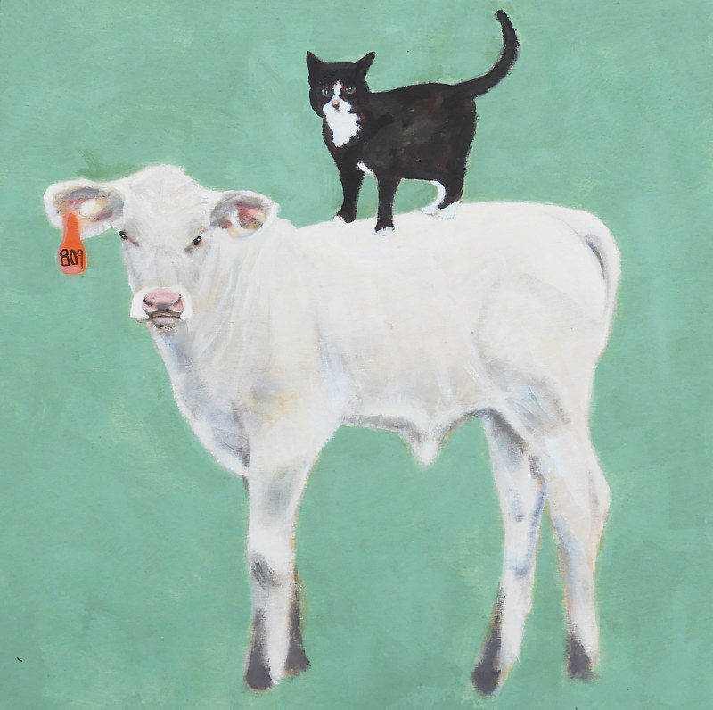 Oil painting Bad Bettycalf, 2017 by Edith dora Rey