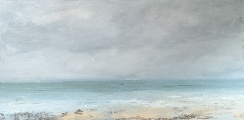 Oil painting Returning Tide  II @ Cortile gallery, Ptown by Nella Lush