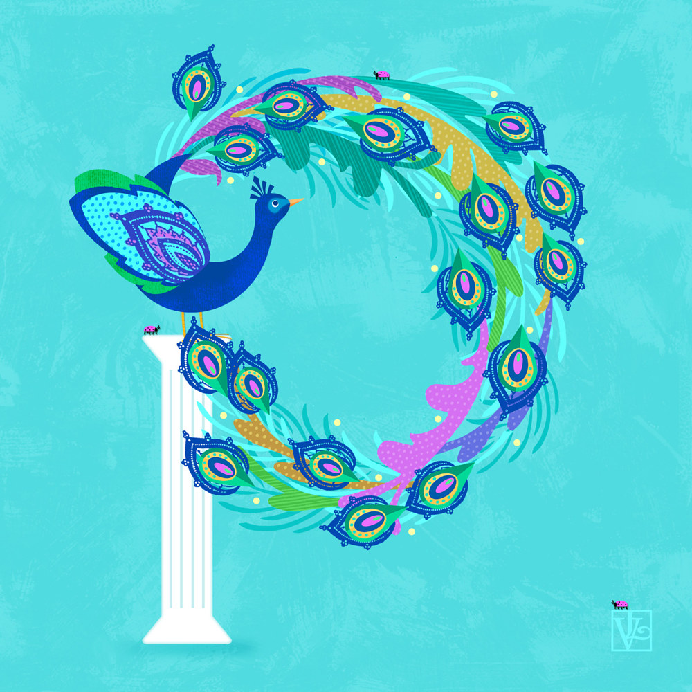 P is for Peacock  by Valerie Lesiak
