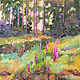 Acrylic painting Foxglove Field by Marty Husted