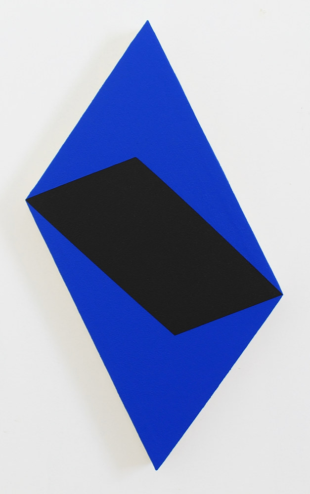 Acrylic painting Rectriangulo Negro Azul by Jorge Puron