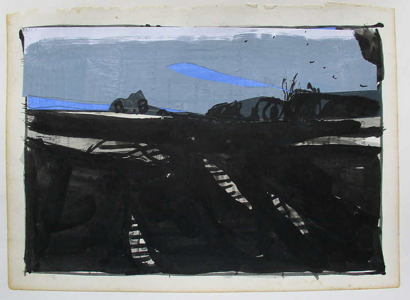 Acrylic painting The Black Pictures, Dark Field by Harry Stooshinoff