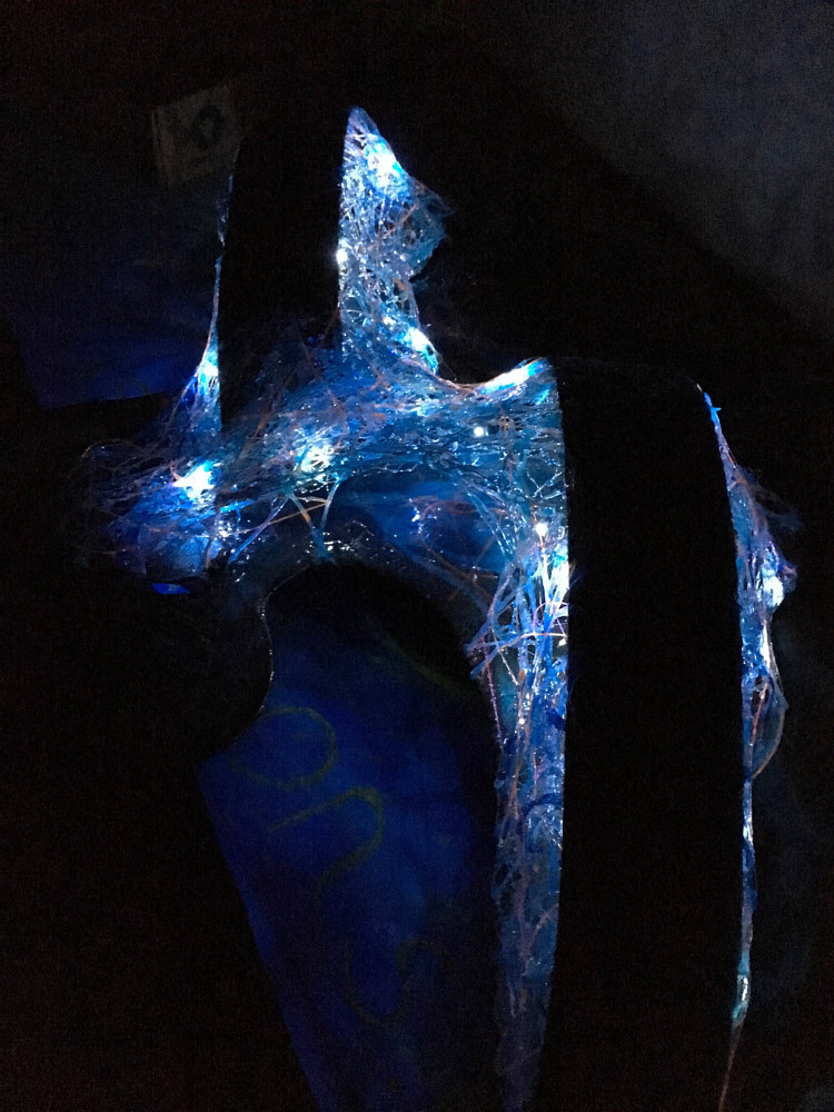 Freshwater Mermaid (night view with LED lights) by Steven Simmons