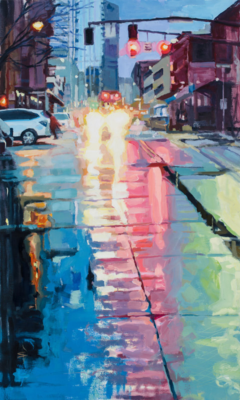 Oil painting Pearl Rain  by Shawn Demarest