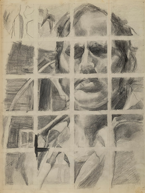 Drawing Man on Grid by James Dougan