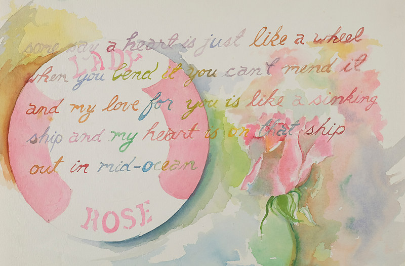 Watercolor heart just like a wheel by James Dougan