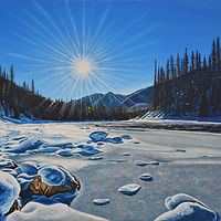 Oil painting Mid Day Splendour by David B. Scott